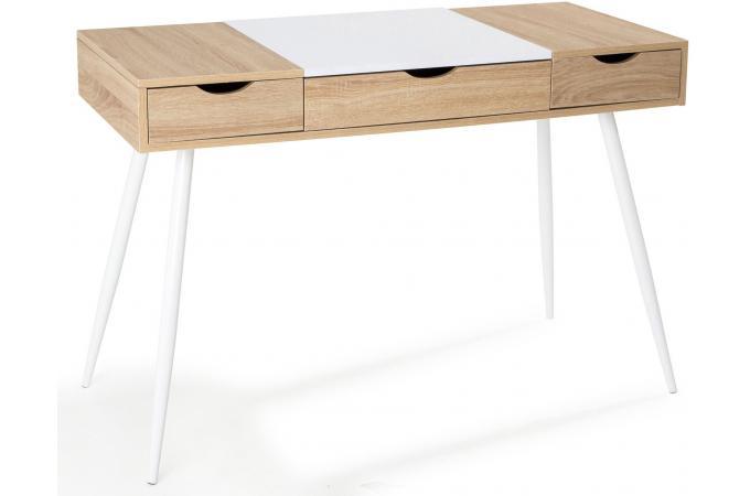 Bureau scandinave bois et blanc study design sur sofactory for Bureau bois scandinave