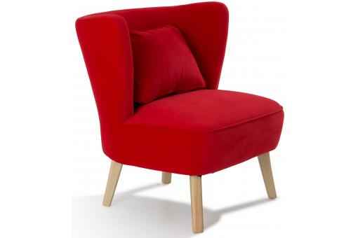 Fauteuil en pin rouge LOOK So112690-0000