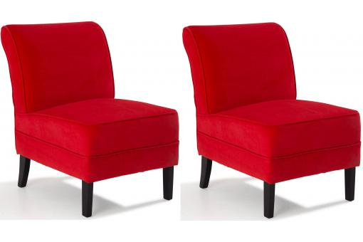 Lot de 2 fauteuils en pin rouges LOOKY SoFactory