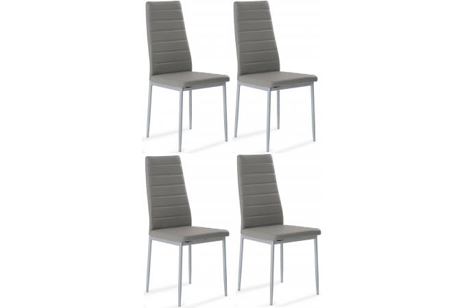 Lot de 4 chaises gris samo design sur sofactory - Chaises design grises ...