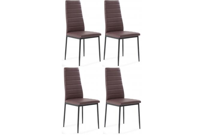 Lot de 4 chaises marron SAMO SoFactory