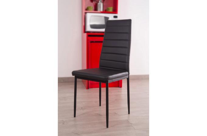 Lot de 4 chaises en fer noires samoa design en direct de l 39 usine sur sofa - Lot de 4 chaises noires ...