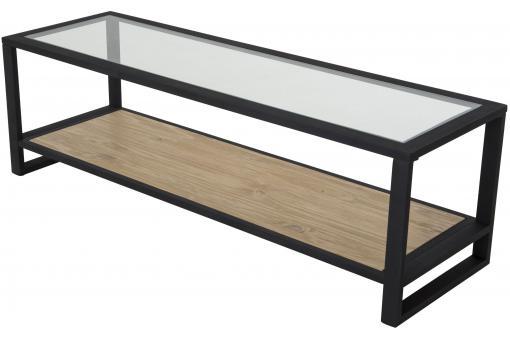 Meuble tv en fer noir laly design sur sofactory for Meuble kolly