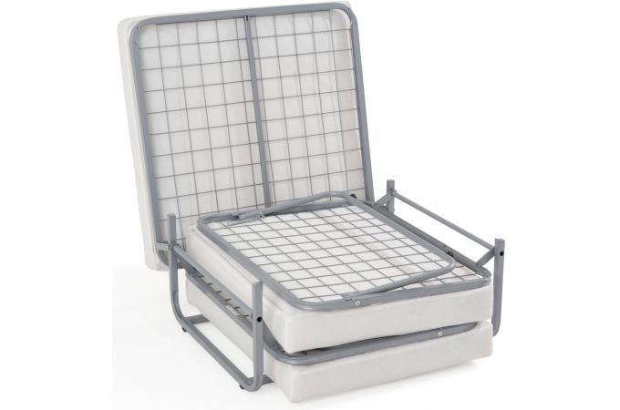 pouf lit en acier ecru otello design pas cher sur sofactory. Black Bedroom Furniture Sets. Home Design Ideas