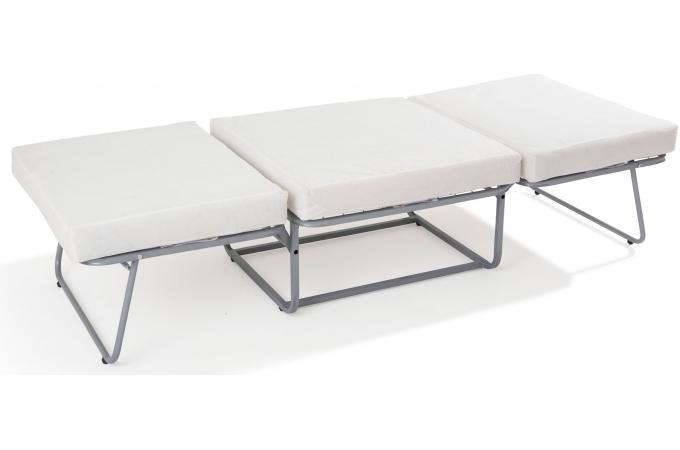 pouf lit en acier noir otello design sur sofactory. Black Bedroom Furniture Sets. Home Design Ideas