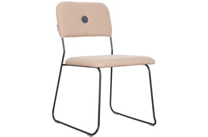 chaise feline empilable noir et taupe bouton gris fonc dakar design pas cher sur sofactory. Black Bedroom Furniture Sets. Home Design Ideas