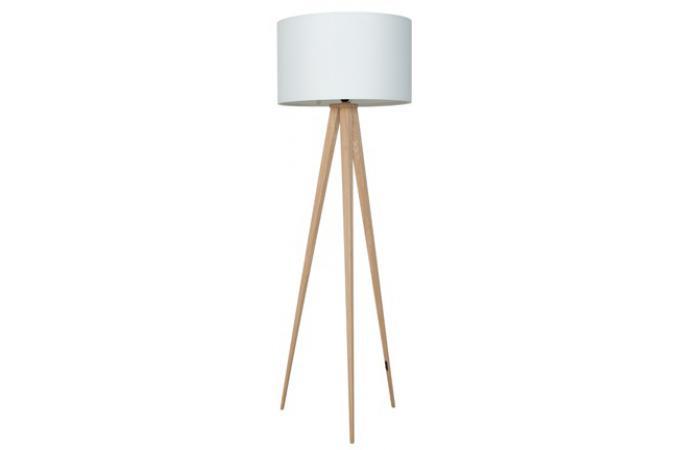 Lampadaire tr pied bois naturel blanche giovedi d co - Lampe de salon sur pied pas cher ...