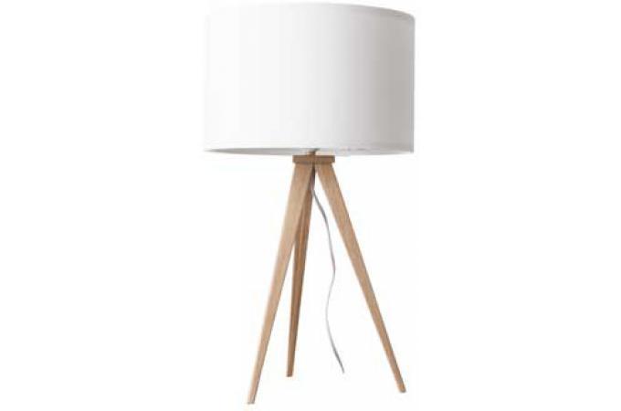 lampe a poser bois et blanc design de maison. Black Bedroom Furniture Sets. Home Design Ideas